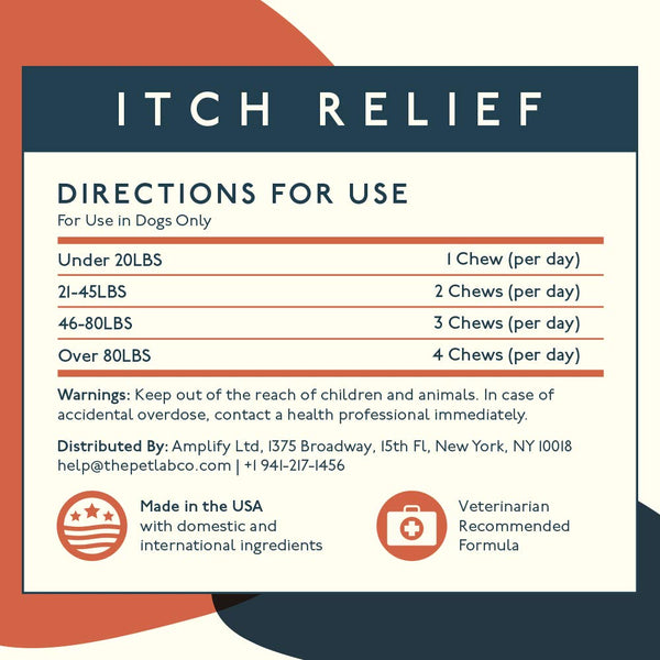Petlab Co. Itch Relief Chews for Dogs | Anti Itch Dog Chews