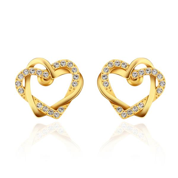 E744 WholesaleNickle Free Antiallergic18K Real Gold Plated Earrings For Women New Fashion Jewelry