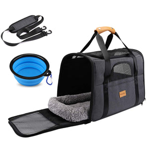 Dog Cat Travel Carrier, Airline Approved Pet Carrier