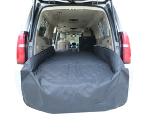 Plush Paws Waterproof Cargo Liner with Bumper and Side Panels, Extra Large (Black)