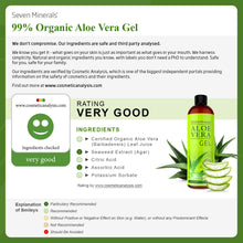 Load image into Gallery viewer, Organic Aloe Vera Gel with 100% Pure Aloe