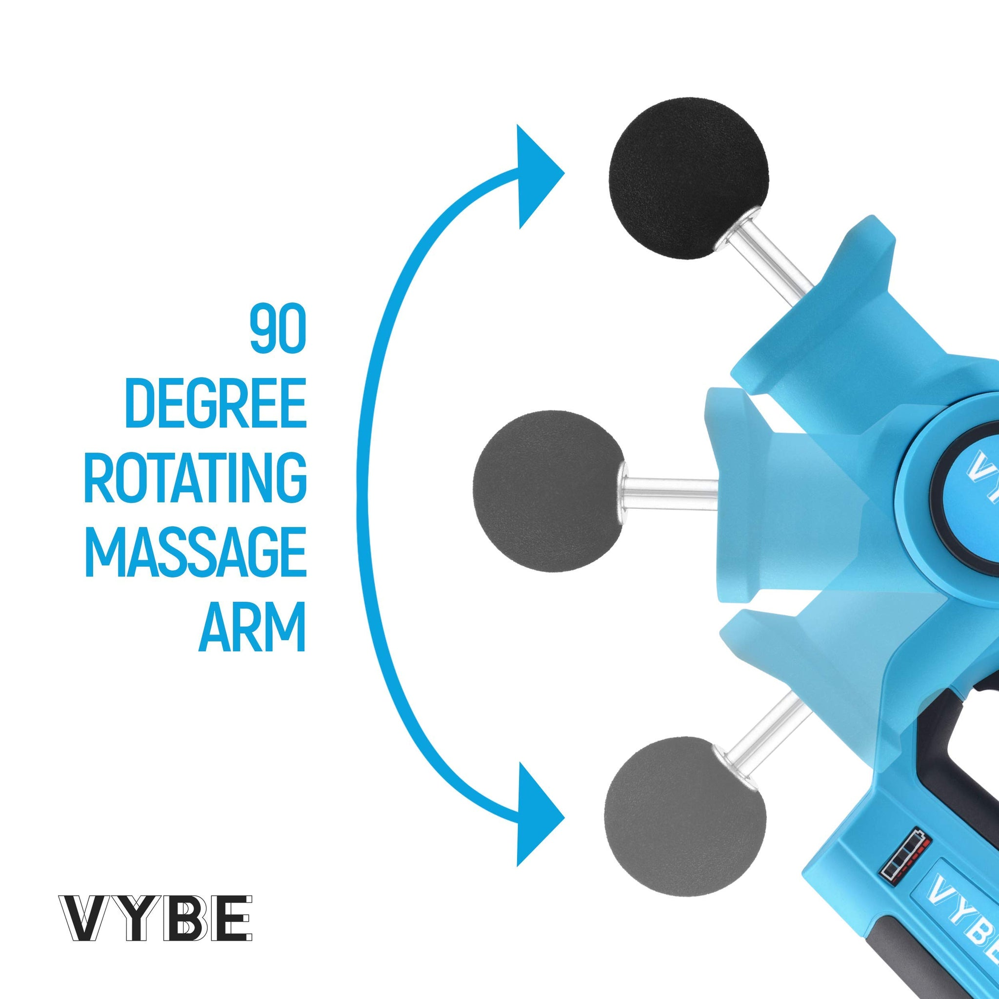 VYBE PERCUSSION Massage Gun -Handheld, Brushless, Cordless, Electric -