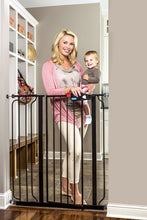 Load image into Gallery viewer, Regalo Easy Step Extra Tall Walk Thru Baby Gate, Bonus Kit, Includes 4-Inch Extension Kit, 4 Pack of Pressure Mount Kit and 4 Pack of Wall Cups and Mounting Kit, Black