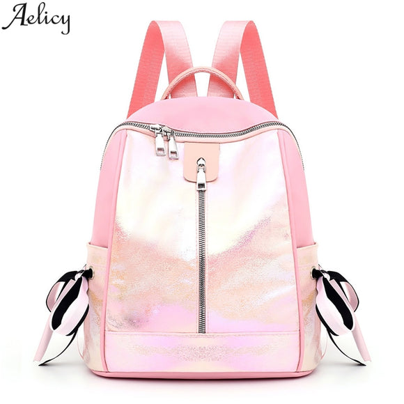 Multicolor Oxford Backpack Student School Bag