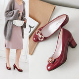 woman ladies retro mary janes office work shoes