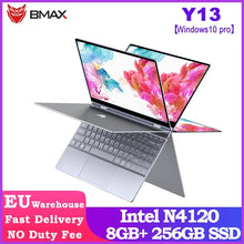Load image into Gallery viewer, BMAX Y13 360° Laptop 13.3 inch Notebook Windows 10 Pro 8GB LPDDR4 256GB SSD 1920*1080 IPS Intel N4120 touch screen laptops|Laptops| |