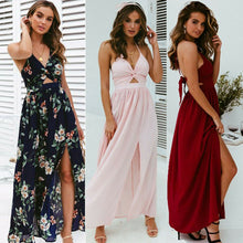 Load image into Gallery viewer, Boho Summer Floral Long Maxi Dress