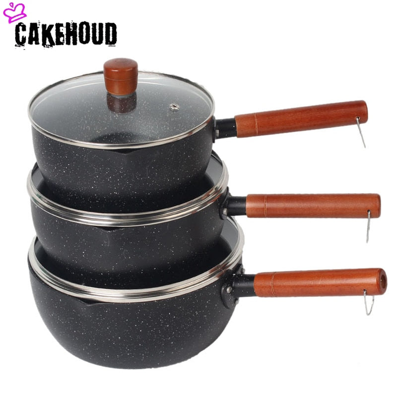 CAKEHOUD Japanese style Maifan Stone Non stick Soup Pot Cooker With Lid Electromagnetic Compatibility