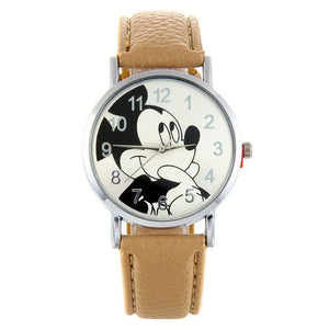 Cartoon Cute Brand Leather Quartz Watch Children