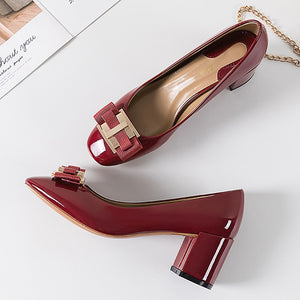 High Heel Designer Brand Chunky Heels Shoes