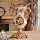 European Luxury Palace Resin Vase Crafts Figurines