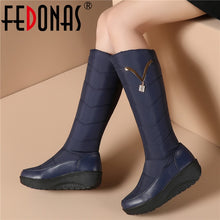 Load image into Gallery viewer, Winter Warm Metal Women Knee High Boots