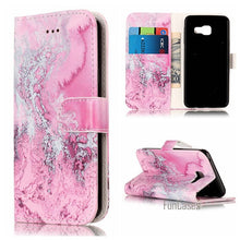 Load image into Gallery viewer, Fashion Marble PU Leather Flip Phone Case For Samsung Galaxy