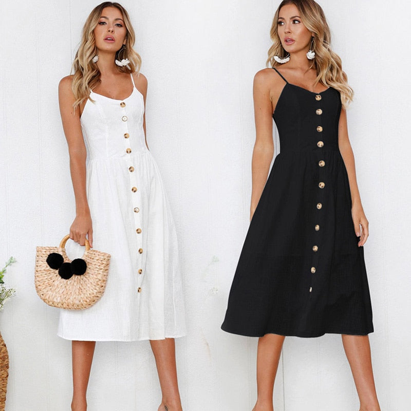 Fashion Sexy Women Sleeveless Backelss Summer Dress