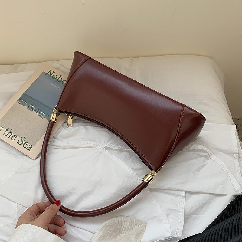 Solid Color PU Leather Handbags For Women 2019 Shoulder Bag Female Small Elegant Totes Lady Handbag Luxury Hand Bag