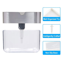 Load image into Gallery viewer, Soap Dispenser Soap Pump Sponge Caddy New Creative Kitchen 2-in-1 Manual Press Liquid Soap Dispenser With Washing Sponge