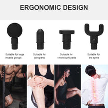 Load image into Gallery viewer, Tissue Massage Gun Muscle Massager Muscle Pain Management after Training Exercising Body Relaxation Slimming Shaping Pain Relief