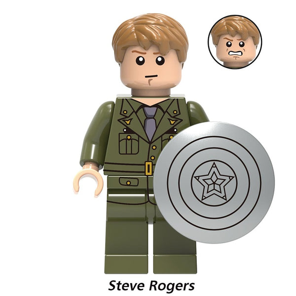 Legoly Captain America action Figure Marvel Super Hero Steve Rogers Avengers Endgame Building Blocks