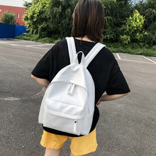Load image into Gallery viewer, Quality High Capacity Backpacks For Women 2019 Solid Color Pu Leather Back Pack Teens Girls School Bags Back To School Backpack