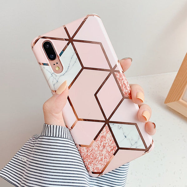 Marble Flower Case For Samsung Galaxy