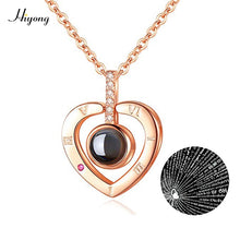 Load image into Gallery viewer, I Love You Necklace 100 Languages Heart Love Necklace Love Memory Projection Pendant Necklace for Women Gifts for Mother's Day
