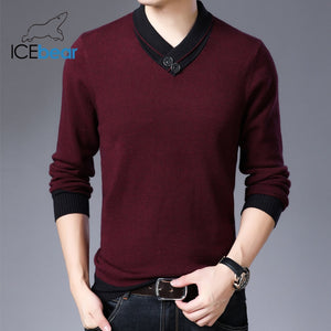 spring 2020 new men's sweater warm v-neck sweater