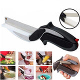 Stainless Steel Kitchen Scissors 2 in 1 Cutting Board  Chopper Clever Fruit Vegetable  Multifunctional Cutter