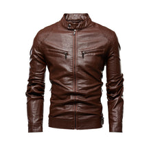 Load image into Gallery viewer, Men Autumn Motorcycle Causal Leather Jacket