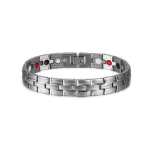 Load image into Gallery viewer, Health Magnetic Bracelet Male Stainless Steel Wrist Band Magnetic Bracelet Men Hand Chain Energy Germanium Bracelets for Men