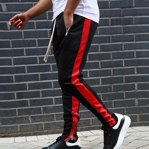 2019 Mens Joggers Casual Pants Fitness Men Sportswear Tracksuit Bottoms Skinny Sweatpants Trousers Black Gyms Jogger Track Pants