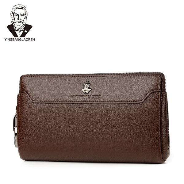 Men's Anti-theft Business Handbag  Coded Lock Day Clutch Male Big Capacity Long Wallet