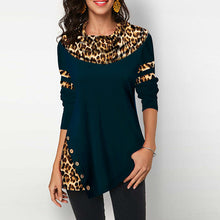 Load image into Gallery viewer, Cotton Leopard Print top Women's Blouses