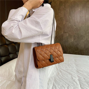 Quilted PU Leather Crossbody Bags For Women