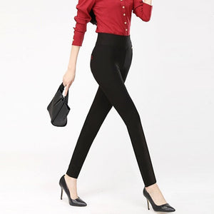 summer women's pants 2020 Fashion thin High waist elasticity Pencil pants Solid color lady pants leisure Corduroy pants