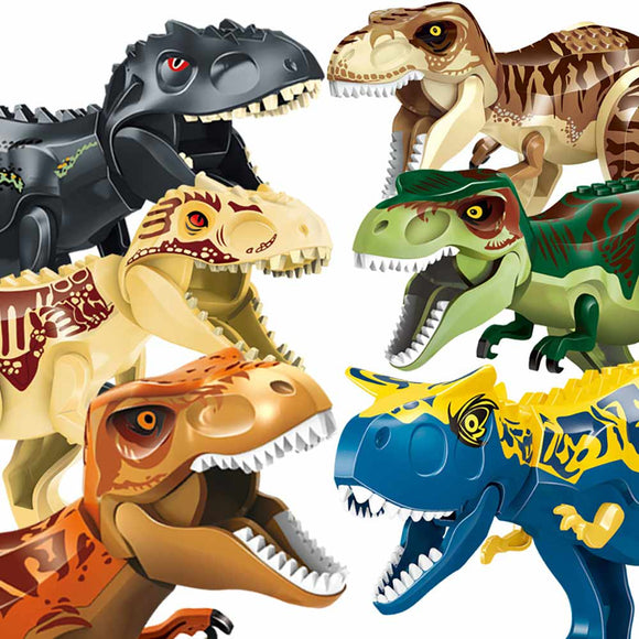 Legoing Jurassic World Park Dinosaur animal Building Blocks figures compatible with Legoed Duploes bricks toys for Childrens