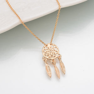 Fashion dream catcher series Jewelry necklace Feather Necklace Long Sweater Chain Statement Jewelry choker Necklace for Women