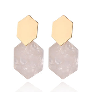 New Style Vintage Fashion Resin Earrings for Women 2019 Big Geometric Acrylic Drop Earring for Girls Party Simple Trendy Jewelry