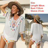 Woman Beach Cover Up Dress Fringe Tunic Yellow Beachwear