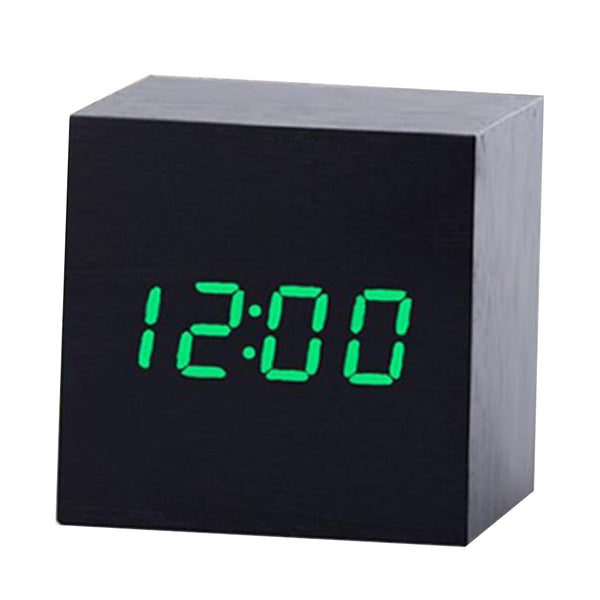 New Arrival Wooden LED Alarm Clock