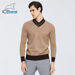 ICEbear spring 2020 new men's sweater warm v-neck sweater brand clothing 1912