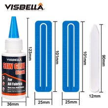 Load image into Gallery viewer, VISBELLA 60ml Sew Liquid Glue Bonding Glue Repair Kit for Leather Cloth Textile Multi-Purpose Crafting Natural Fabric Glue