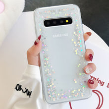 Load image into Gallery viewer, LAPOPNUT Bling Star Glitter Soft TPU Sequins Phone Cases for Samsung S9 S8 Plus S7 Edge S10 S10e A8 2018 A3 A5 2017 Clear Cover