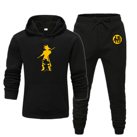 New Brand Clothing Men's Pullovers Sweater Cotton Men Tracksuits Hoodie Two Pieces + Pants Sports Shirts Fall Winter Track suit2