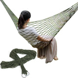 Single Person Mesh Nylon Hammock Portable For Camping Beach Outdoor Leisure Hanging Bed Swing Adult Furniture Ulatralight