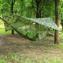 Load image into Gallery viewer, Outdoor Automatic Quick Open Mosquito Net Hammock Tent With Waterproof Canopy Awning Set Hammock Portable Pop-Up