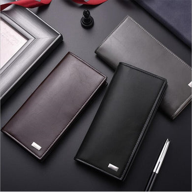 DEABOLAR men wallets card holder PU Leather male wallet long design quality passport cover fashion casual mens purse on sale