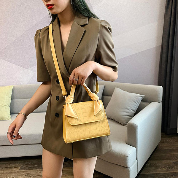 MINI Stone Pattern PU Leather Crossbody Bags For Women 2019 Luxury Shoulder Messenger Bag Lady Totes Design Handle Handbags
