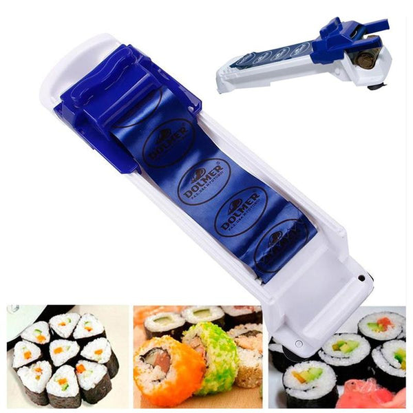 Magic Kitchen Roll Maker Sushi Roller Food Machine Cabbage Leaf Meat Rolling Diy Useful Sushi Roller Maker Food Machine