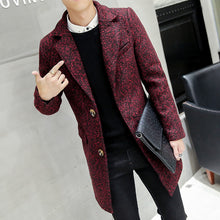 Load image into Gallery viewer, Fashion lapel collar slim fit solid color coat