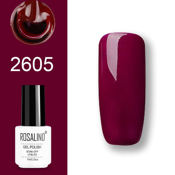 ROSALIND Gel Polish Set UV Vernis Semi Permanent Primer Top Coat 7ML Poly Gel Varnish Nail Art Manicure Gel Lak PolishesNails